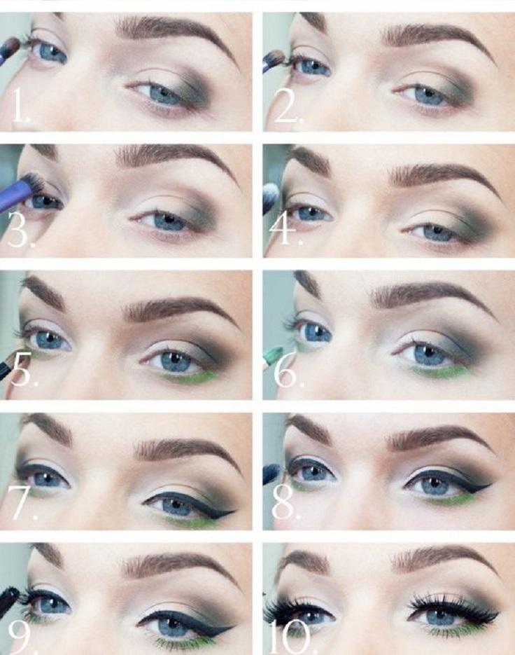 Blue Makeup Tutorial For Green Eyes Makeupview