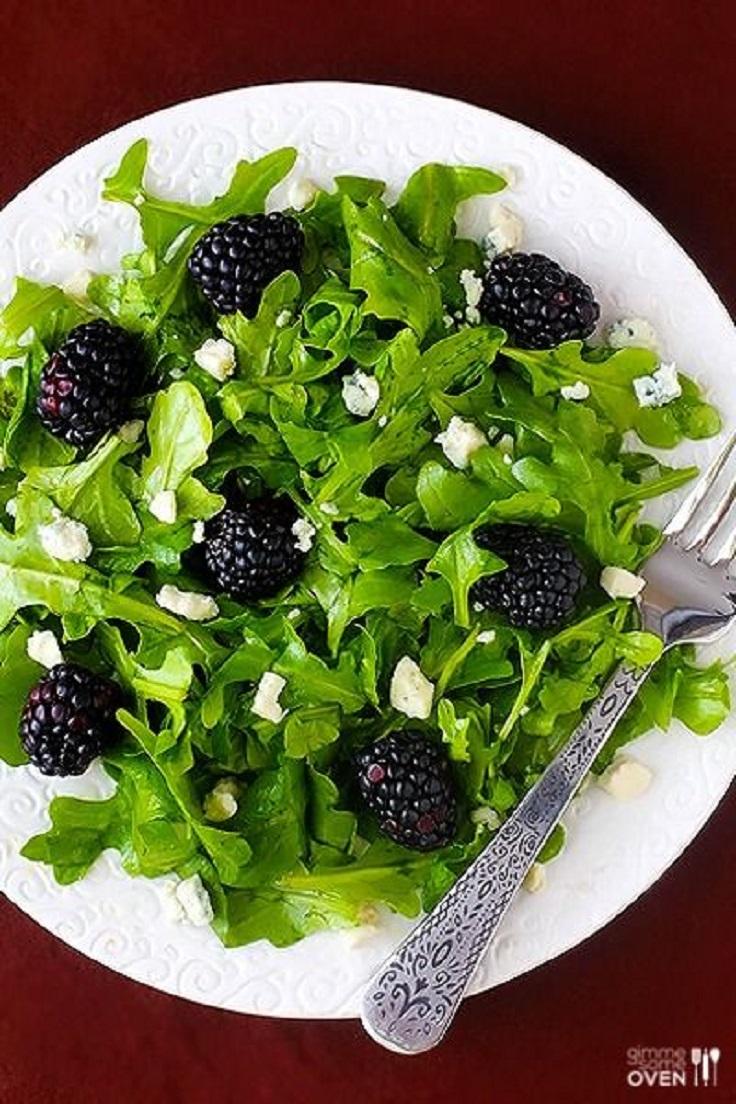 Blackberry Arugula Salad with Citrus Vinaigrette