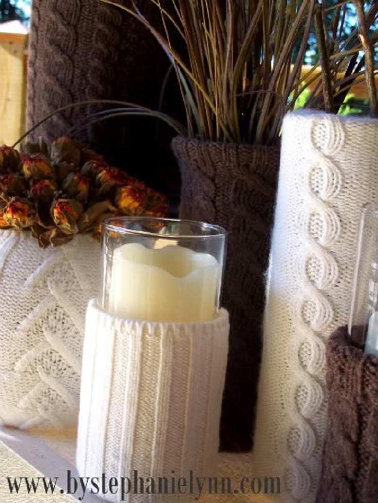 recycled-sweater-vases