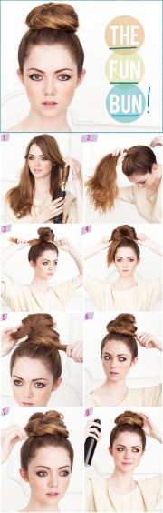quick and easy hair buns