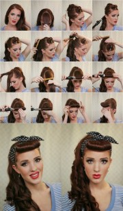 bandana hairstyles - simple