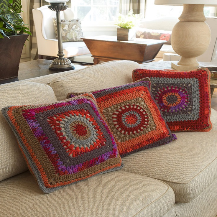 crochet sofa cover patterns double recliner bed top 10 free for gorgeous crocheted pillows
