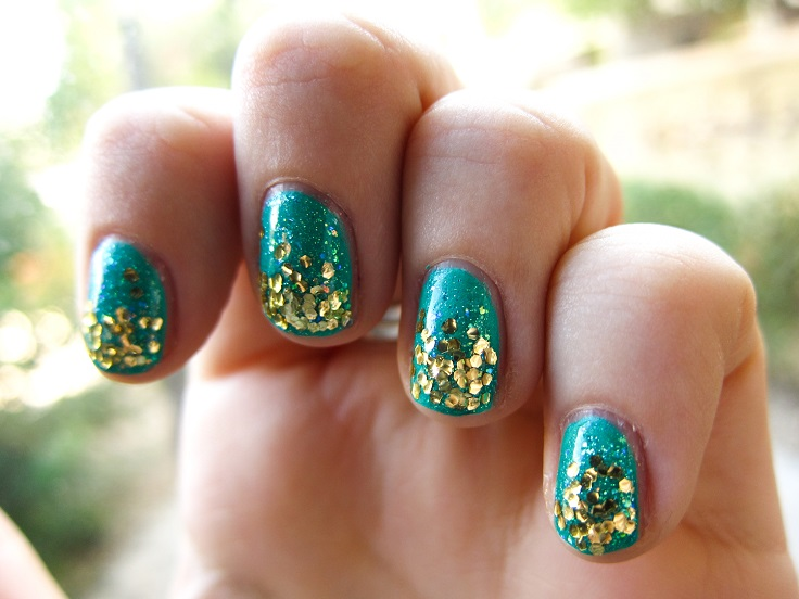 10 super easy glittery nail art ideas crazyforus 10 super easy glittery nail art ideas prinsesfo Image collections