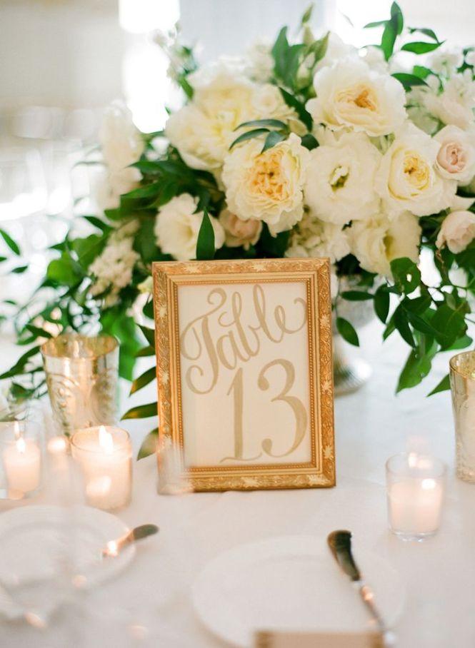 Top 10 Wonderful Wedding Table Numbers Ideas