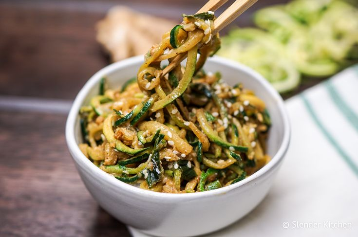 6. Asian Zucchini Noodles | Top 10 Healthy and Delicious Zucchini Noodles Recipes