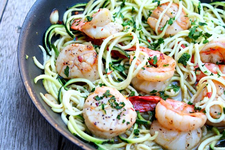5. Shrimp and Scallop Scampi with Zucchini Noodles | Top 10 Healthy and Delicious Zucchini Noodles Recipes