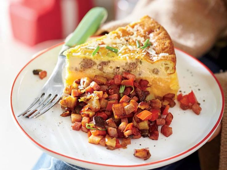 7. Sausage and Cheese Grits Quiche