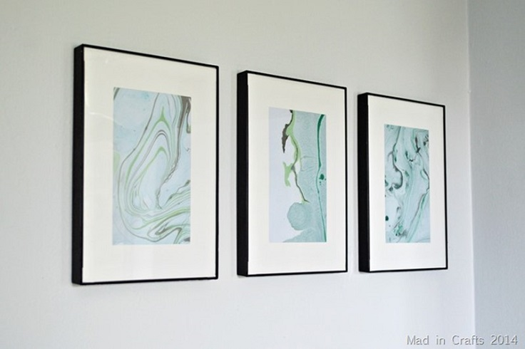 3. Marbled Paper Art