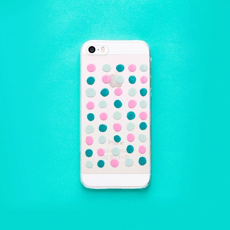 4. Nail Polish Paint Phone Case