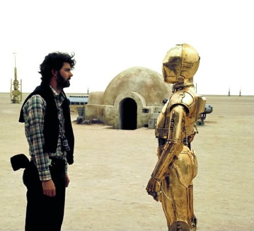 Star Wars - George et C3PO tranquillo make it bright
