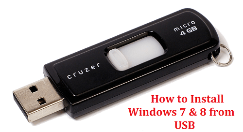 How to Install Windows 7 & 8 from USB