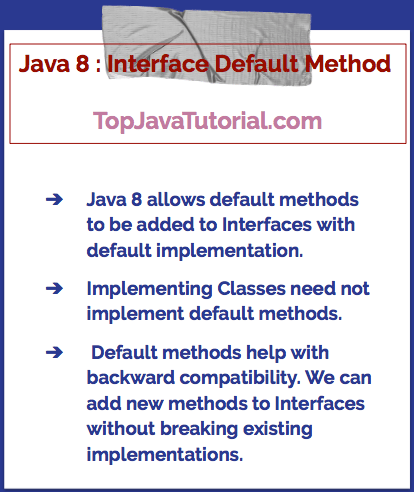 Java 8 default interface method