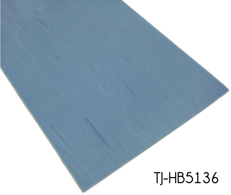 Dark Blue Luxury Commercial Office Homogeneous Sheet Vinyl