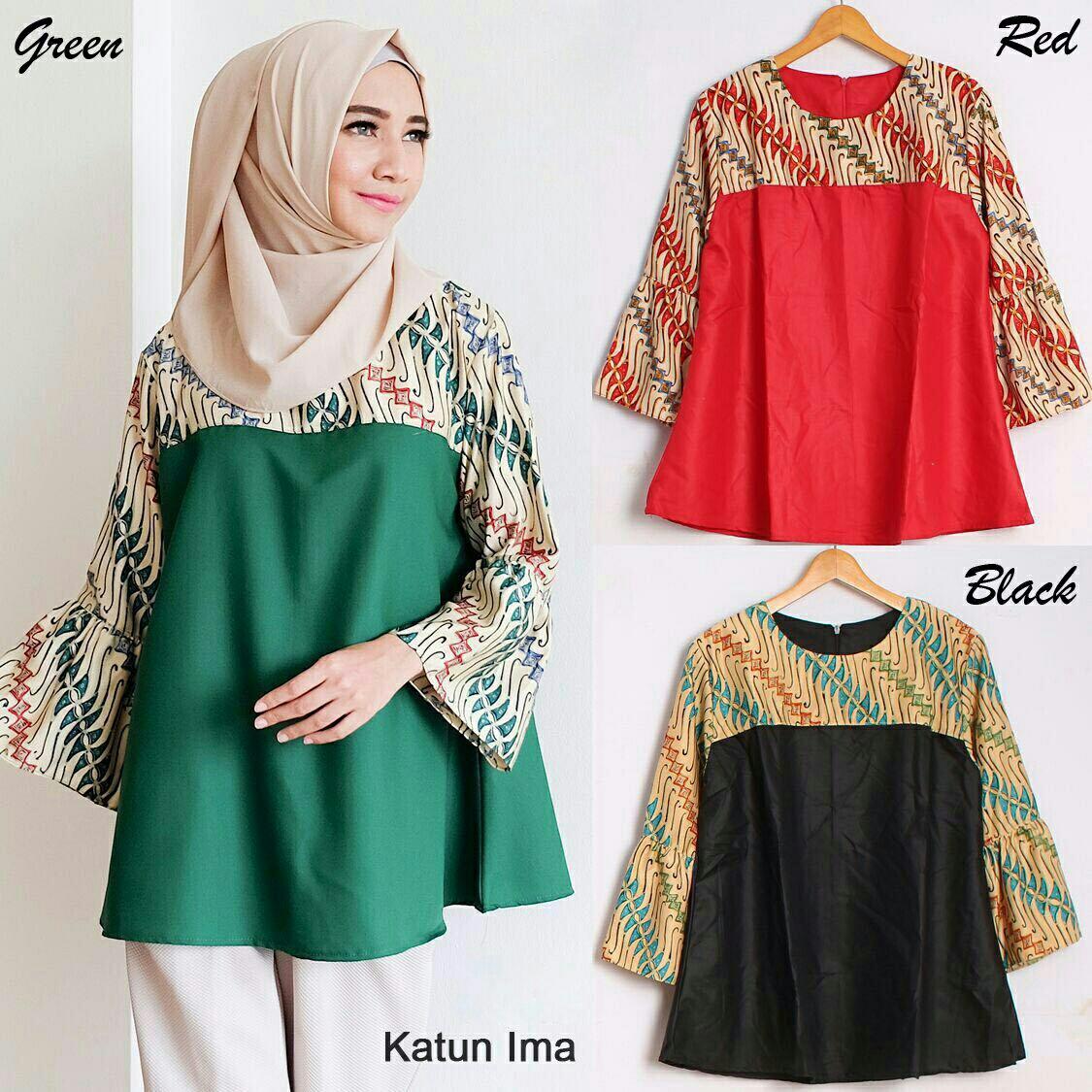 35+ Gambar Model Baju Batik Wanita Lengan Panjang Terbaru ...