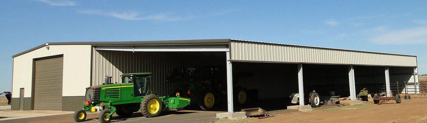 Steel Farm Shop Buildings for Wichita, Kansas