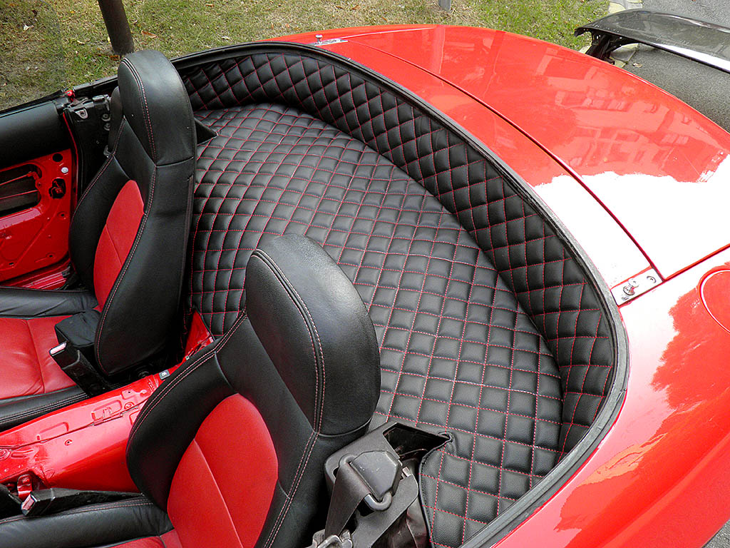 CarbonMiata Quilted Rear Parcel Shelf Cover Premade