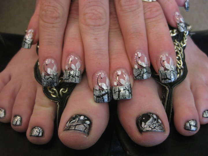 Gothic Purity, nail art designs by Top Nails, Clarksville TN. | Top ...