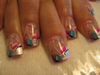 Girly Fun, nail art design by Top Nails, Clarksville TN ...