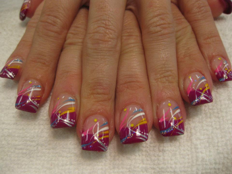 birthday party nail art design