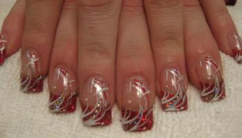 Christmas Ornament Nail Art Designs By Top Nails Clarksville Tn