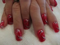 Valentine Swirl, nail art designs by Top Nails ...