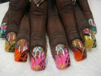 Jungle Safari, nail art designs by Top Nails, Clarksville ...