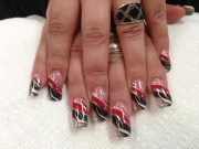 gothic swirl nail art design