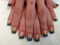 Tiger Stripe Fun, nail art designs by Top Nails ...