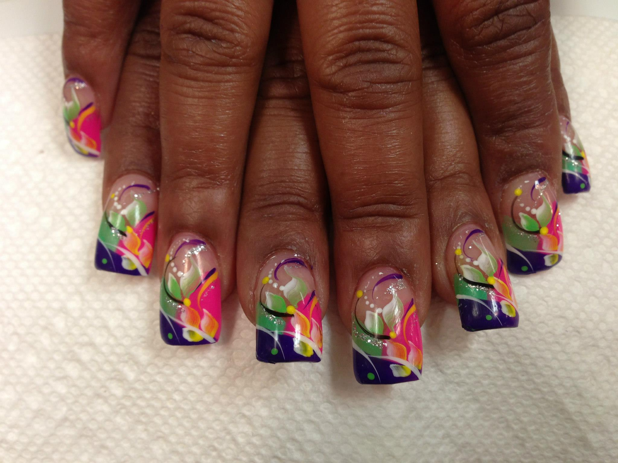 Flower Shop Mix, nail art designs by Top Nails, Clarksville TN ...