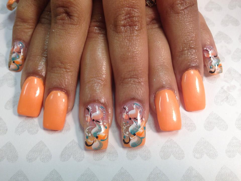 Caribbean Sound Nail Art Designs By Top Nails Clarksville Tn