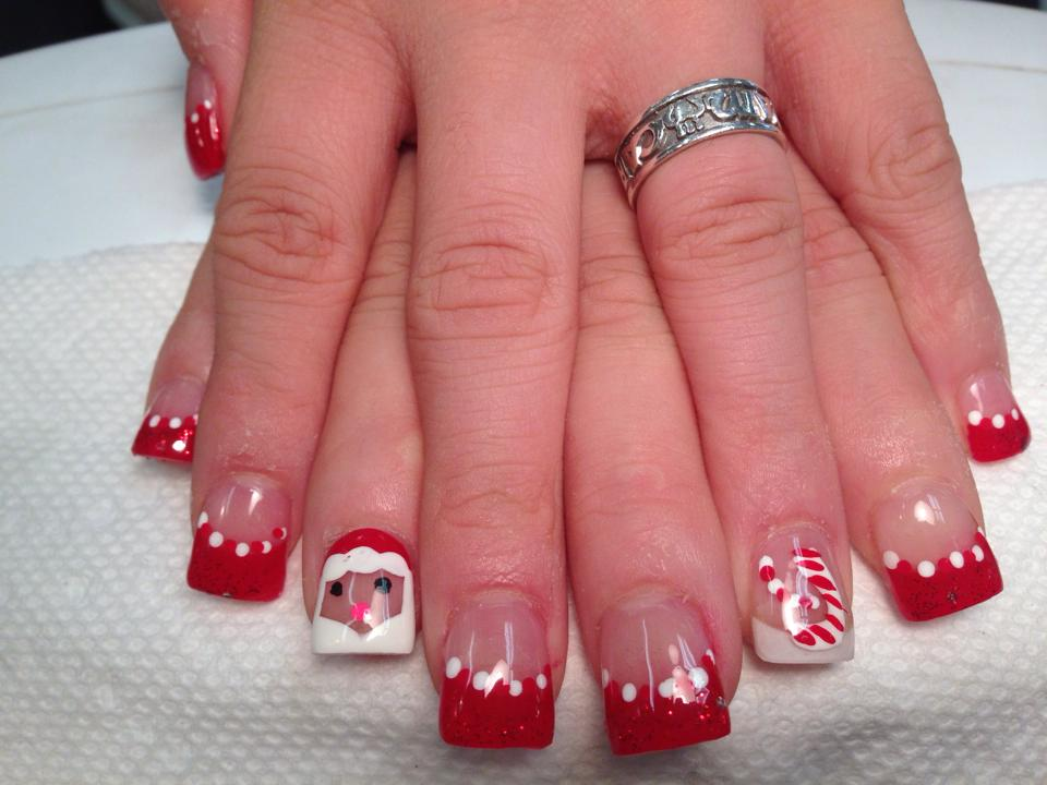 Santa's Comin' to Town, nail art designs by Top Nails
