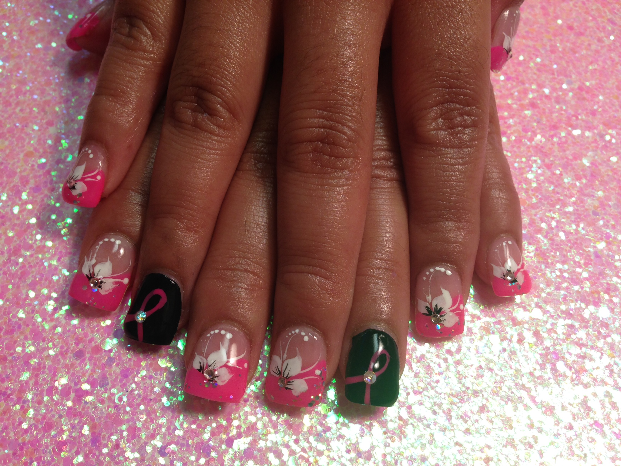 Save the tatas lily nail art designs by top nails clarksville tn save the tatas lily nail art designs by top nails clarksville tn izmirmasajfo
