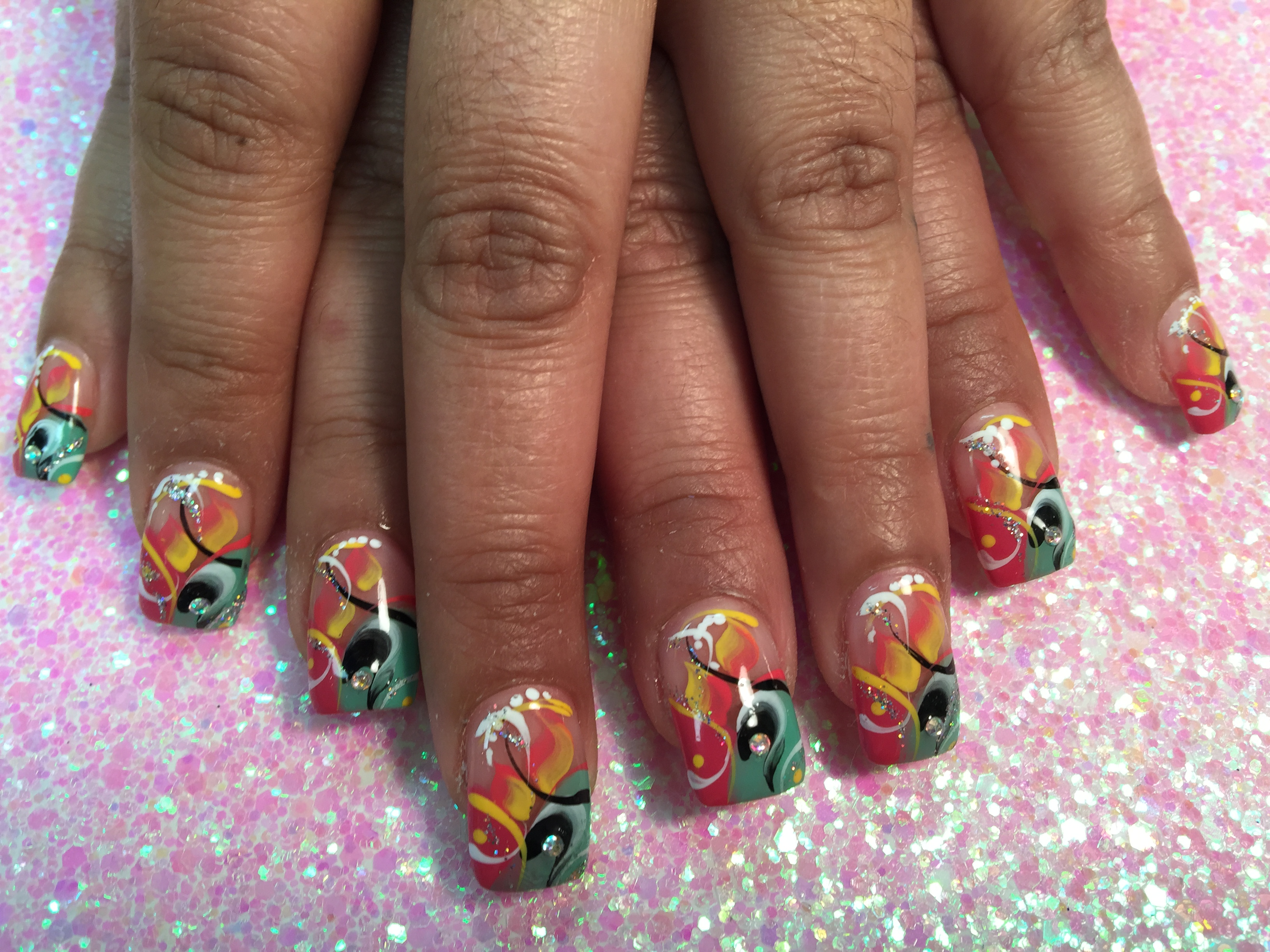 Miami Party Nail Art Designs By Top Nails Clarksville Tn Top Nails