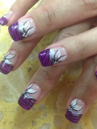 Purple Tiger Stargazer, nail art designs by Top Nails ...