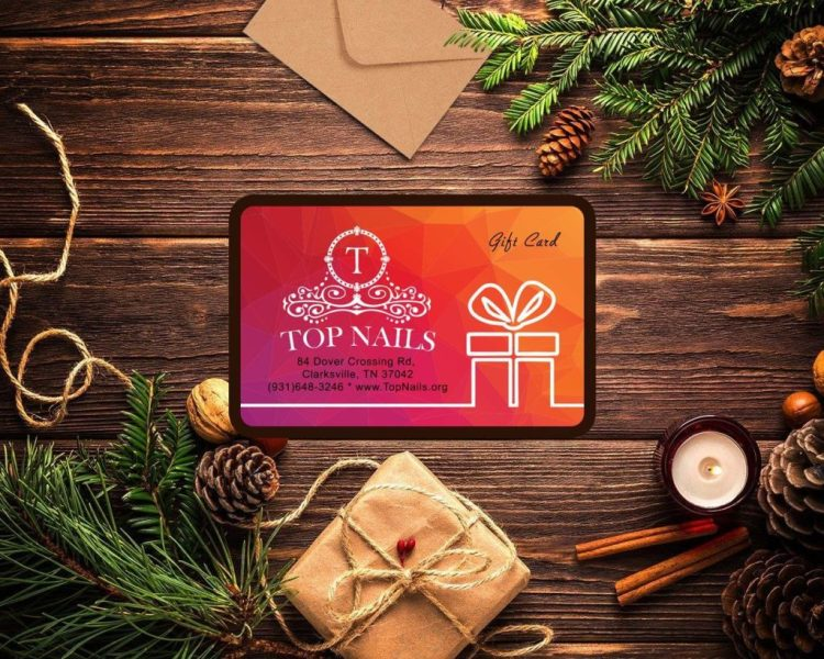 Top Nails gift card never expires