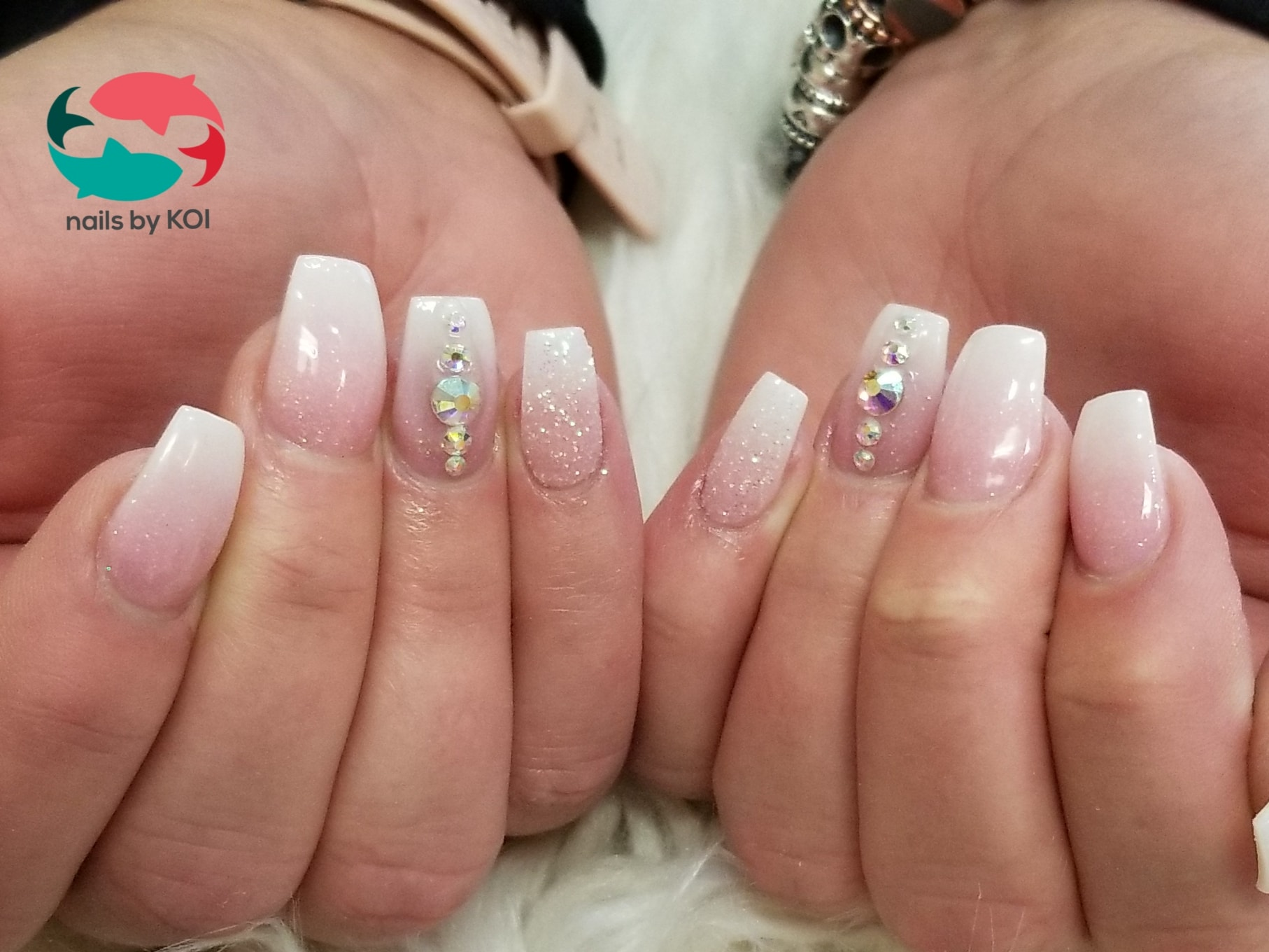 Top Nails Voted Best Nail Salon In Clarksville Tn 37042 The nails are a light blue chrome with two accent nails.