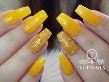 Fullset SNS dip powder. Pretty yellow sun flower color.