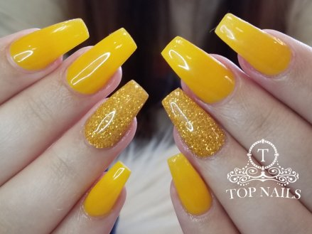 Fullset SNS dip powder. Pretty yellow sun flower color.