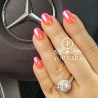 Fancy ombre look, chrome finish
