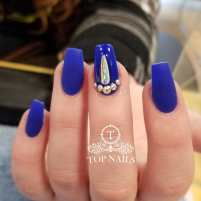 Matte Blue with bling accent