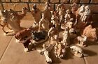 19pc Elegant Large Nativity Set Ceramic HandCrafted Ivory with Gold Accents EUC