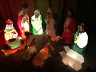 EMPIRE BLOW MOLD NATIVITY 13 PIECE SET JESUS JOSEPH MARY 3 WISE MEN SHEPHERD