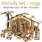 NATIVITY SCENE SET LARGE DIY Wood 3D Puzzle Made in The Holy Land