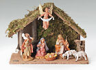 FONTANINI NATIVITY 8 PIECE NATIVITY SET WITH ITALIAN STABLE 5 SCALE
