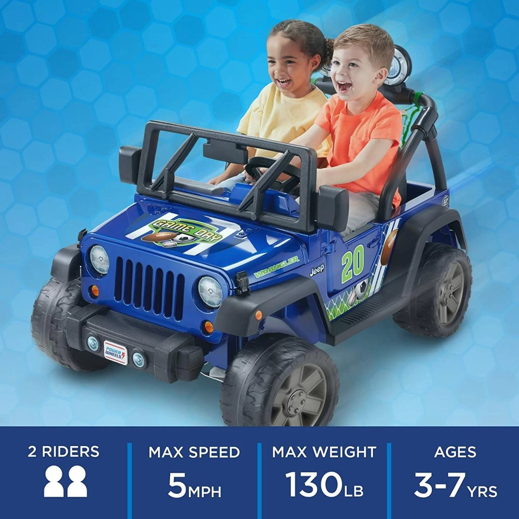 Fisher-Price Power Wheels Gameday Jeep Wrangler details