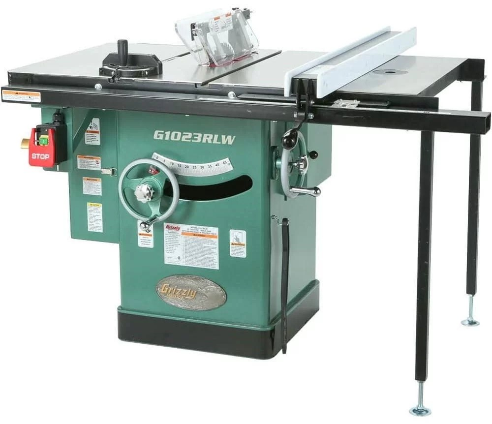 Grizzly G1023RLW Cabinet Left-Tilting Table Saw, 10-Inch