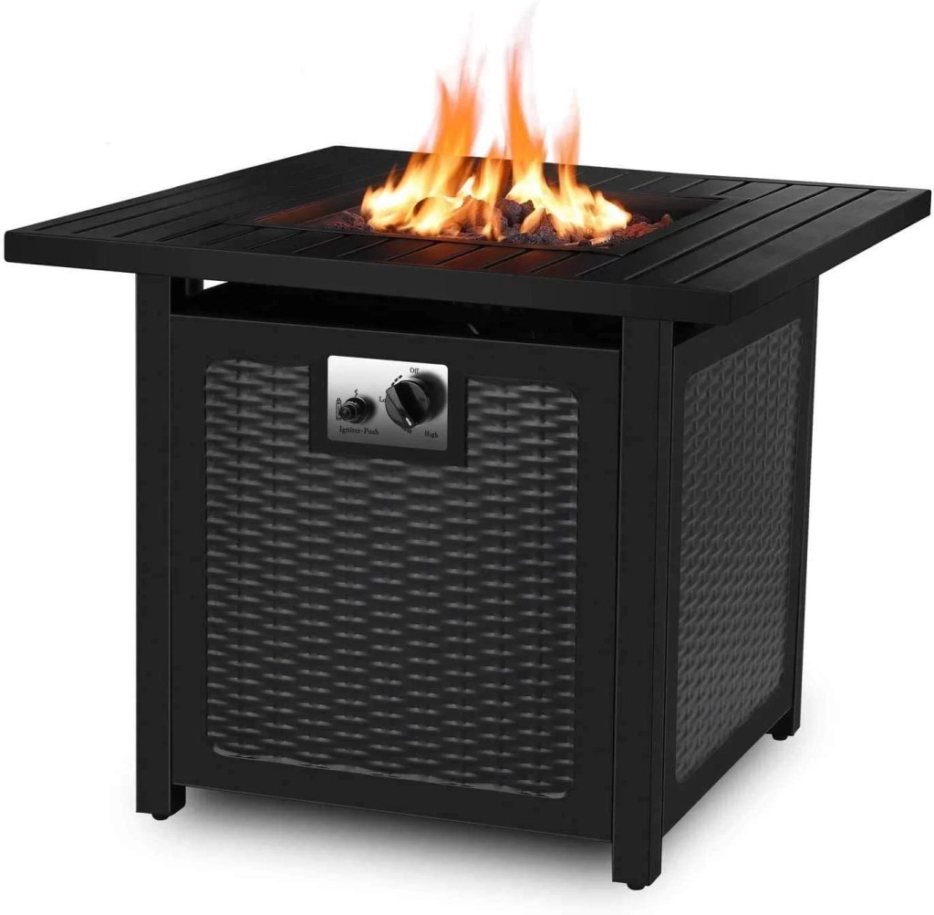 Femor 30 Inch Propane Gas Fire Pit Table