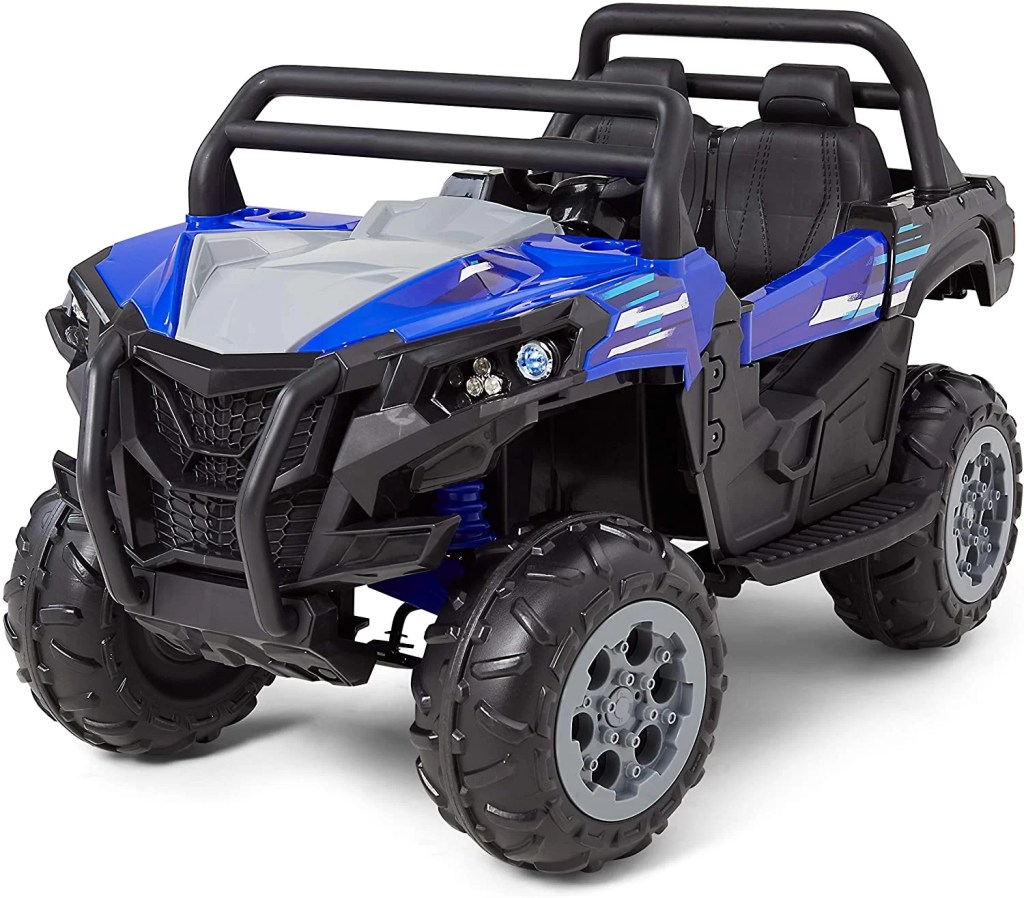 Kid Trax UTV Toddler/Kids Electric Ride On Toy, 12 Volt, 3-7 yrs Old, Max Weight 110 lbs, Single or Double Riders, Blue