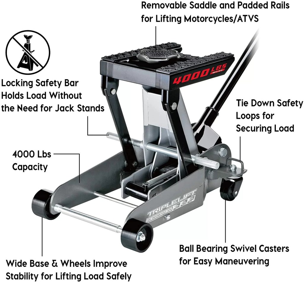 Powerbuilt 620422E Triple Lift Floor Jack