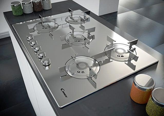 Candy CFX 75 piano cottura di design con 5 aree di cottura  Topnegoziit